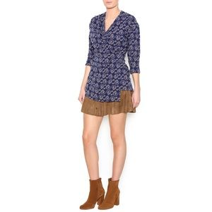 Effie's Heart by ModCloth Bicycle Print Wrap Dress